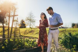 Couple Taking a Walk Discussing the World's Worst Dating Advice