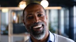 Older Gentleman Smiles for His Profile Pics