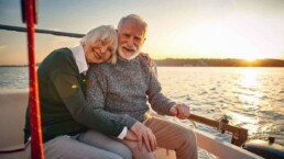 Elderly Couple On a Boat at Sunset - Love After Loss