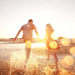 Couple in Successful Relationship on Beach